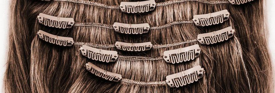 Extension de cheveux à clips